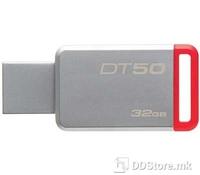 Kingston 32GB USB 3.0 DataTraveler 50 (Metal/Red), DT50/32GB