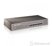 TP-Link TL-SG1008 8-port Gigabit Switch, 8 10/100/1000M RJ45 ports, 1U 13-inch rack-mountable steel case