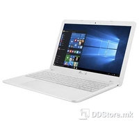 ASUS X540SA-DM290 (FHD, WHITE), Intel Quad-Core Pentium N3700 Processor (1.6-2.4GHz, 2M Cache, 6W, 14nm), 4GB DDR3 1600MHz (on-board), 500GB 5400rpm, DVD SuperMulti, Intel HD Graphics (Braswell), BT4.0, Black IMR chassis with hairline pattern, 3xUSB