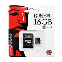 Kingston 16GB microSDHC Class 10 UHS-I 90MB/s read 45MB/s write + SD Adapter