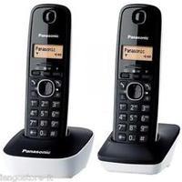 Telephone Panasonic KX-TG6812JTB with 2 Handsets Black