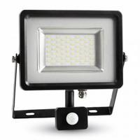 LED Floodlight V-TAC SLIM Black/Grey Body SMD 4500K Sensor IP65 4000 lm 120° - NEW 50W SKU : 5702