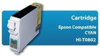 Cart. Hantol T0802 Cyan Epson compatible R265/R285/P50