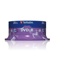 DVD+R 16X 4.7GB 25PK SPINDLE MATT SILVER DLP