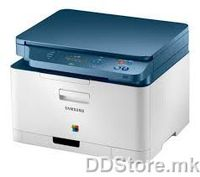 SAMSUNG CLX-3300/SEE Color Laser Multifunctional Printer, 3-in-1 Printer, Scaner, Copier, Speed: 18/4 ppm, SPL-C, Resolution: 600x600, RAM 128 MB, 150 sheets paper input tray, USB, Chasis: Blue/White, Toner: CLT-K406, CLT-C406, CLT-M406, CLT-Y406