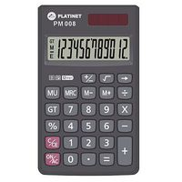 Calculator Platinet PM008 Battery/Solar Power 12 digits