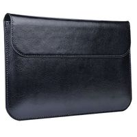 "Tablet Protective Leather Pouch for 7"" Tablets w/Kickstand Black"