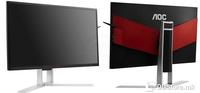 """AOC AG241QX, 23,8"""", 16:9, 2560x1440, 350 cd/m2, 50M:1; 1000:1, 170 °, 160 °, 1 ms, D-Sub,DVI-D,DisplayPort,HDMI,USB,MHL-HDMI, TCO 6.0, Stalak pivot,podesivo po visini,tilt,swivel, Recommended Resolution 2560x1440@144Hz"""