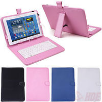 "X5TECH 10"" TABLET COVER with integrated keyboard, Color BLACK, with MICRO USB connection and MICRO TO MINI USB Adapter"