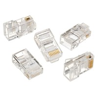 UTP Connector gold plated 8P8C 3-fork for solid cable