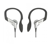 PANASONIC RP-HS6E-S, Sport earphones, black/silver