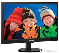 "Monitor 24"" Philips 243V5QHABA MVA LED V-Line, Full HD,VGA, DVI, HDMI, Speakers, Black"