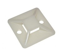 Fixing plate for Cables ,  bag of 20pcs , self-adhesive 30x30mm