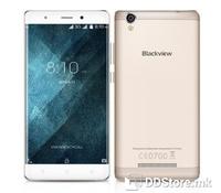 "Blackview A8 Smartphone Gold, Included Protective case + Eearphones, 5"" IPS DHD 2.5D Arc Screen (1280x720), CNC Metal frameDual SIM, Micro SD, 3G: WCDMA 900/2100MHz, MT6580 Cortex A53 quad core, 1.3GHz;  GPU: Mali-T400, 1GB RAM, 8GB  ROM, Dual camera"