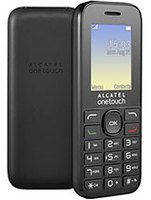 "Alcatel 10.16 1016G, Mobile feature phone, black, 2G, Dual SIM, 1.8"" color display with 65K colors, 128x160 pixels, Built in flashlight, FM Radio, Polyphonic ringtones, 4MB RAM, CPU SPRD SC6531DA ARM 9 312MHz, USB, Battery 400mAh"