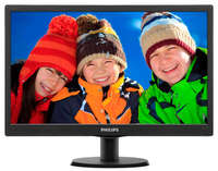 PHILIPS LED 18.5''  193V5LSB, Slim Design, 5ms, Smart Contrast 10.000 000:1,  Smart Control Lite, Black