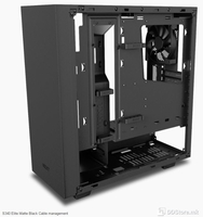 NZXT S340 ELITE MATTE BLACK MID TOWER, tempered glass panel,  1x Audio/Mic