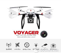 Wonder Tech W400R, Voyager 6-axis Gyro DRONE with HD camera + works with GoPro Hero camera, 4GB Memory card included, 3D flips and rolls, Headless mode, One key return, Left/right throttle control switch mode, low, medium and high speed, 2.4GHz, 4 ch