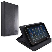 "CASE LOGIC 7"" UNIVERSAL TABLET FOLIO (13X1.5X21.1)CM - BLACK - Professional-styled folio designed to fit multiple brands of 7 inch tablets, including Samsung Galaxy Tab 7"" and Kindle Fire™, Custom mounting system. Two viewing angles adjust to min"
