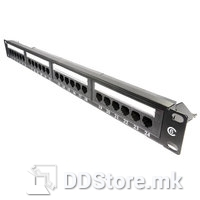Patch Panel 24port Lanberg Cat5e Shilded Rack Mount 0.5U