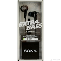 Earphones Sony MDR-XB50APB w/Microphone Extra Bass Black