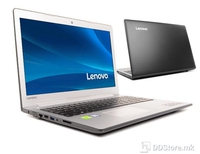 "Notebook Lenovo 510-15ISK i7-6500U 8GB/1TB/940MX 4GB/DVDRW/15.6"" FHD LED/backlitKB/BlackSilver/DOS"