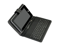 "Leather Keyboard for 8"" 4:3 Tablet PC Micro USB LDK Black"