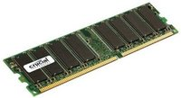 1 GB     DDR400           PC1-3200 (400MHz) CL3, 184-Pin DIMM, Energy management: 2.6 V