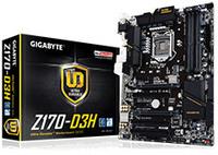 MB Gigabyte Z170-D3H LGA1151 DDR4 3466MHz OC SATA/Express M.2 USB3.0/Type-C GBit LAN HDMI/DVI/VGA