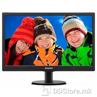 "Monitor 20"" 203V5LSB26/10 Philips LED Slim V-Line, 1600x900, 5ms, Black"