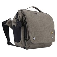 CASE LOGIC REFLEXION DSLR + IPAD® SMALL CROSS-BODY BAG (20 X 9 X 17)CM - MOREL - Removable, cinch-top pod with adjustable walls and handles offers dedicated storage for your DSLR camera, one additional lens, flash or accessories, Integrated storage