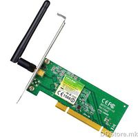 TP-Link TL-WN751ND 150Mbps Wireless N PCI Adapter, Atheros, 1T1R, 2.4GHz, 802.11n/g/b, 1 detachable antenna