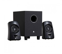 Power Box Q1 2.1 Channel speaker, Black, R.M.S: 9.5W(4.5W+2.5W*2), P.M.P.O: 170W, Colour box packing