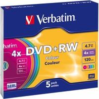 DVD+RW 4.7GB 4x Verbatim 5pcs Slimcase DataLifePlus