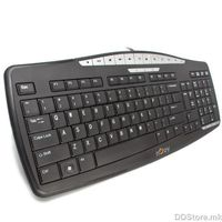 SMK110 Slim Multimedia Keyboard, 104 Keys + 12 Multimedia Hot Keys, USB, Compact & Sylish Design, Black