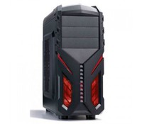 """Power Box SY-S136 Black, Gaming ATX Chassis case, I/O Ports: USB 3.0 x 1, USB 2.0 x 1 HD Audio, Drive bays: 5.25"""" external x 1, 3.5""""internal x 3, SSD Bay x 4, PCI Slots: 7, Support Cable Management, PVC dustproof mesh under PSU position, Supports VGA"""