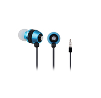 Earphones Gembird MHS-EP-002 Metal w/Microphone Black & Blue