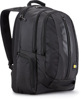 """CASE LOGIC 17,3"""" LAPTOP AND IPAD/TABLET CASE (41.6 x 4.6 x 30)CM - BLACK Full electronics capacity with integrated pockets for both a 17.3 inch laptop and an iPad/tablet (encased or not), Durable, water-resistant materials protect this backpack from"""
