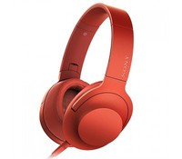 SONY MDR100AAPR.CE7, High Resolution Overhead Headphones, Red