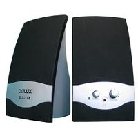 Delux DLS-128 2.0 speaker,siver/black,euro cable, color box packing,Delux logo