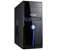 Delux DLC-MV871 (BLUE) high-glossy Midi ATX Case