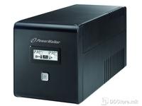 UPS PowerWalker 1000VA/600W 2xSkhuko 2xIEC 1xRJ45/RJ11 USB LCD Line-Interactive