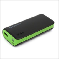Power Bank Platinet Portable for Smartphone and Tablet 6000mAh Black/Green w/Led Light and Micro USB