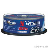 CD-R 700MB 52x Verbatim Extra Protection 25pcs Wrap