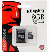 Kingston 8GB microSDHC Class 10 w/SD Adapter, SDC10G2/8GB