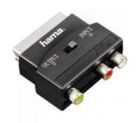Hama 00042353 Scart Video Adapter to 3x RCA Female Jacks (1xVideo/Audio L&R) - Scart Male Plug