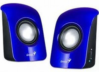 Genius Speaker 2.0, 1.5W RMS, USB, Blue, SP-U115