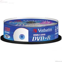 DVD+R Verbatim 4.7GB 16x 25pcs Spindle Printable