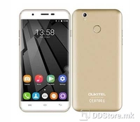 "Oukitel U7 Plus Smartphone Gold 5.5"" HD IPS (1280x720), 4G LTE, Dual SIM, 3G: WCDMA 900/2100MH, Chipset: MediaTek MT6737, CPU: Quad-Core 1.3 GHz ARM Cortex-A53, GPU: ARM Mali-T720 MP2 550MHz, Internal Memory: 16GB, Card slot: microSD, up to 32GB, RAM"