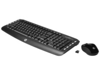 HP KB + Mouse Wireless Classic Desktop , 2.4GHz, Black